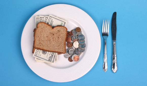 A money sandwich with a side of loose change.