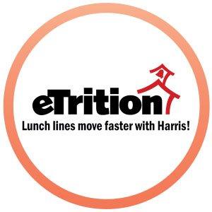 eTrition product logo in orange circle.