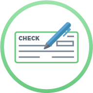 Icon: Check and pen - Full Back-Office / Payroll Services