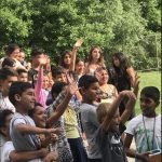 Group photo of Roma children during activity