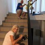 Sherrill painting stairwell