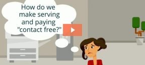 Preview image - video player with image of woman in office wondering how to adapt to contact-free lunch payments